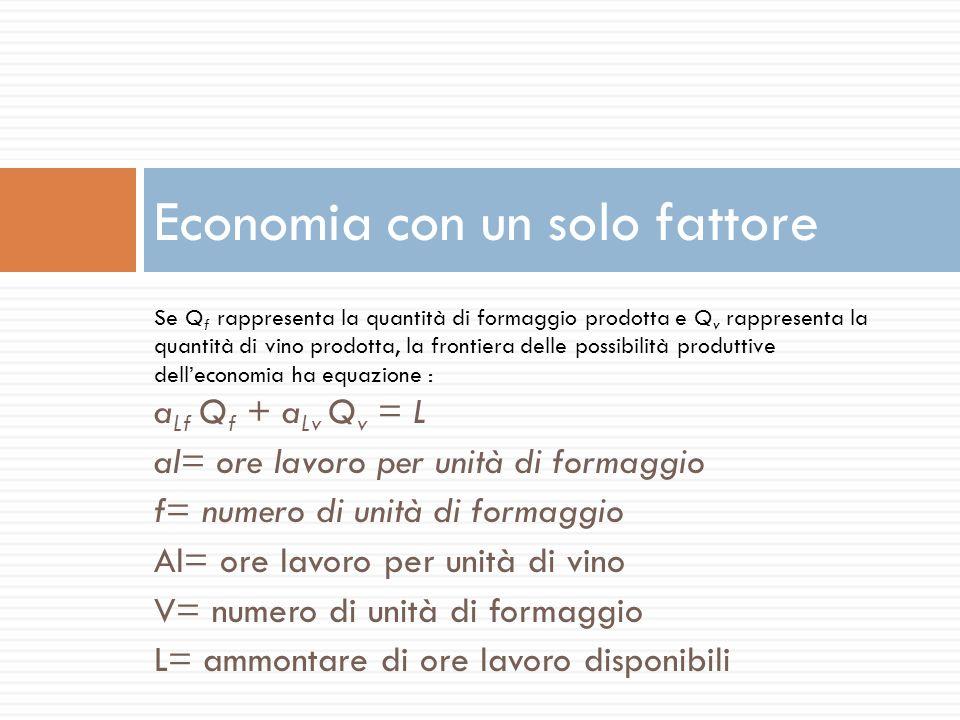 Economia con un solo fattore