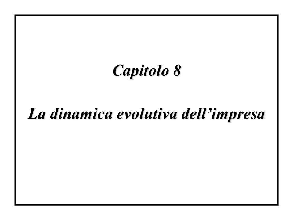 Capitolo 8 La dinamica evolutiva dell'impresa
