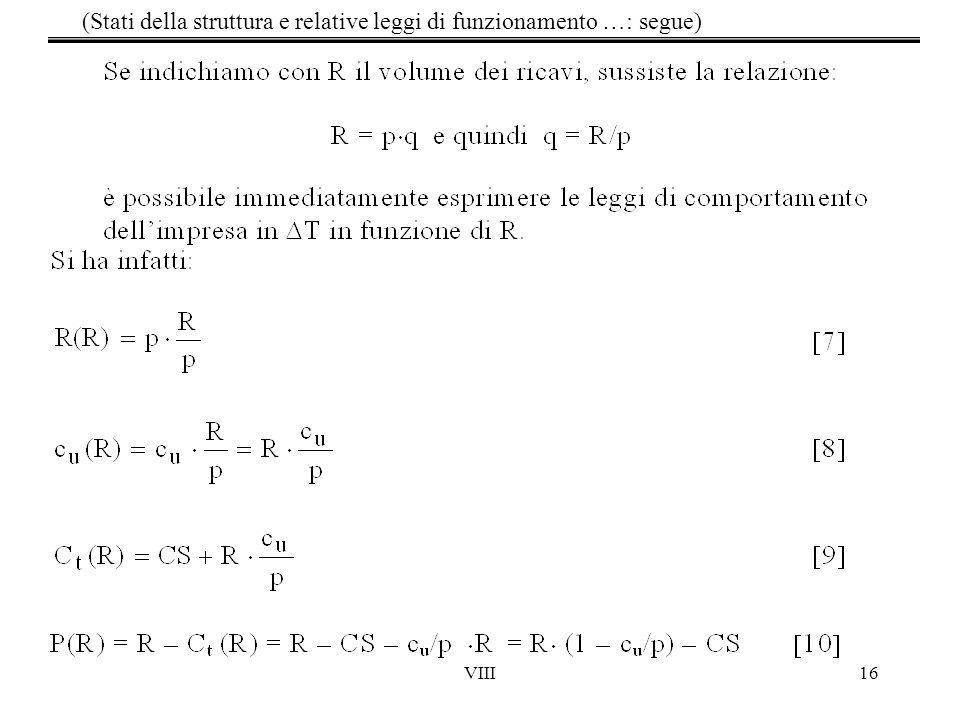 (Stati della struttura e relative leggi di funzionamento …: segue)