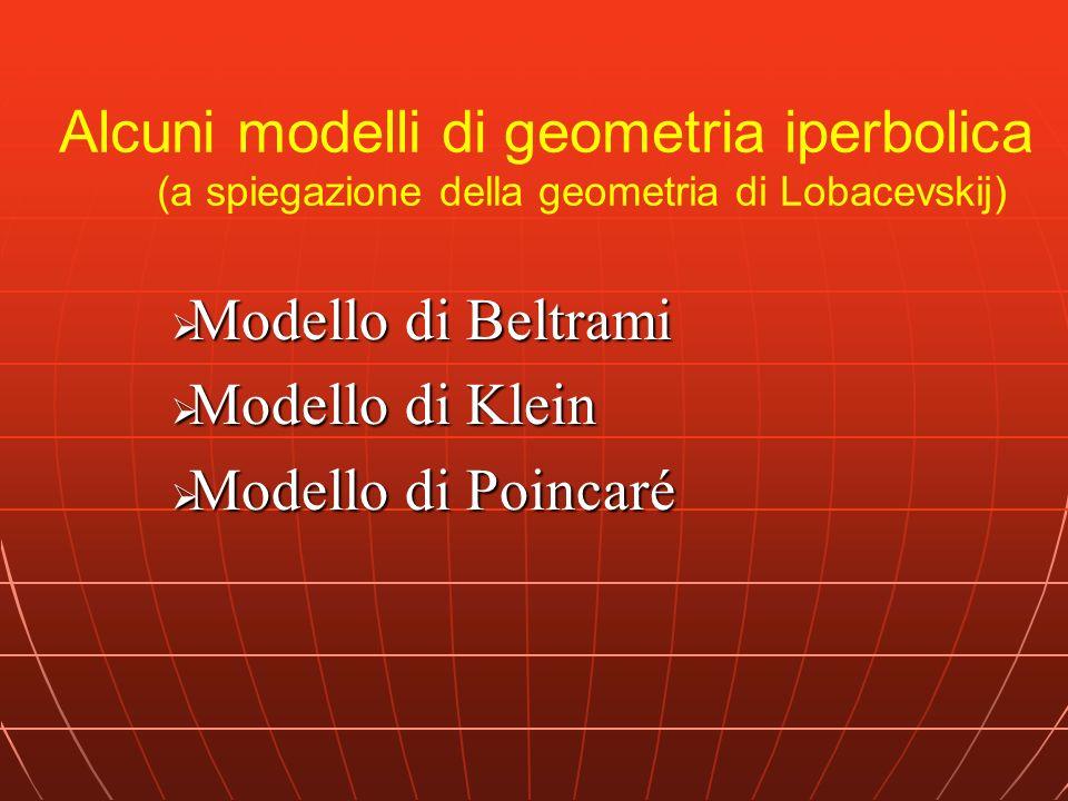 Modello di Beltrami Modello di Klein Modello di Poincaré
