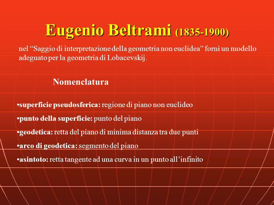 Eugenio Beltrami (1835-1900) Nomenclatura