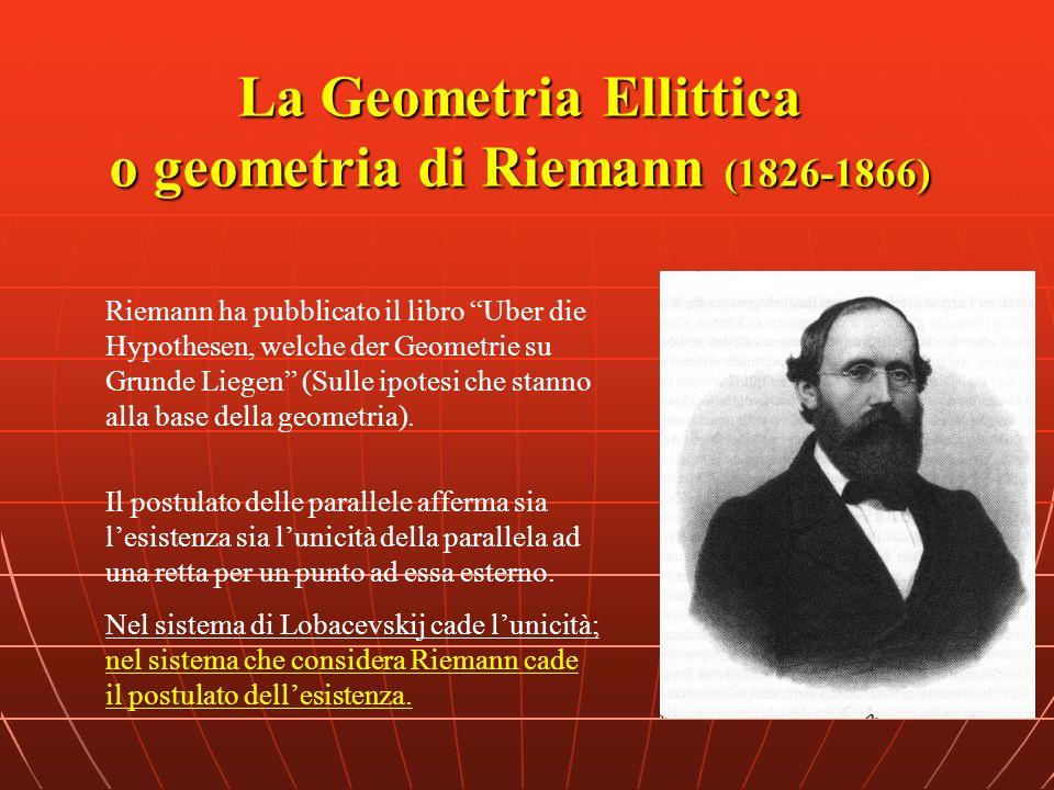 La Geometria Ellittica o geometria di Riemann (1826-1866)