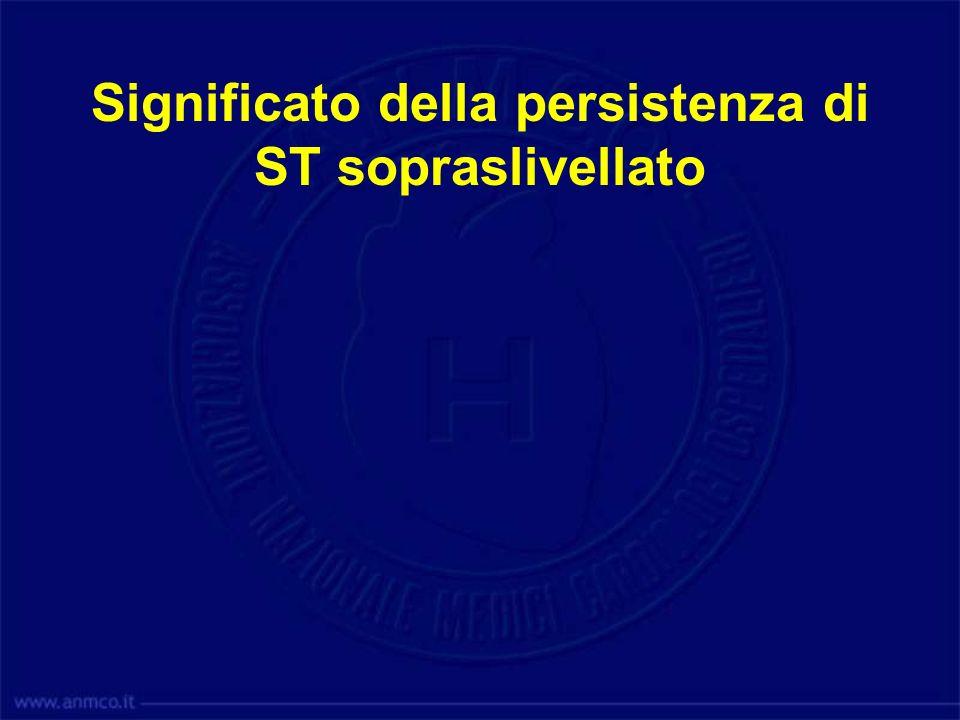 Significato della persistenza di ST sopraslivellato