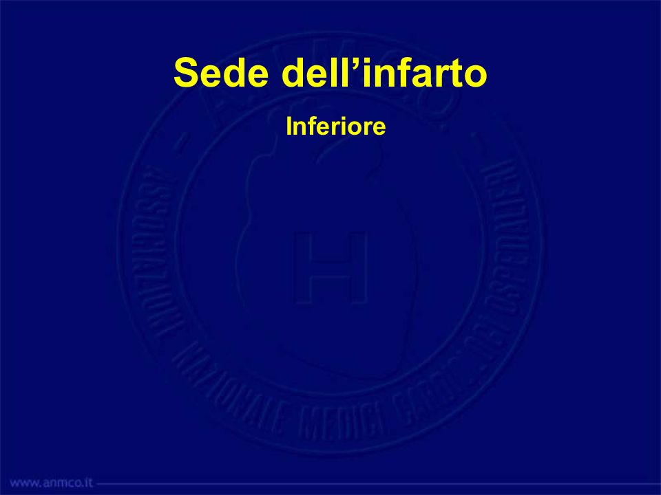 Sede dell'infarto Inferiore