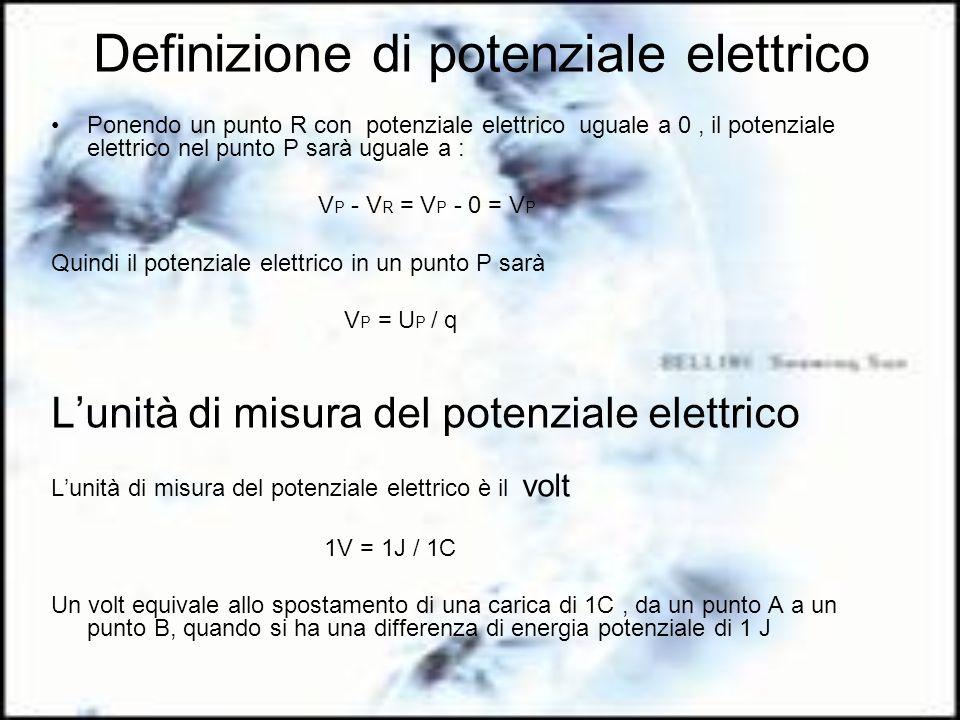 Definizione di potenziale elettrico