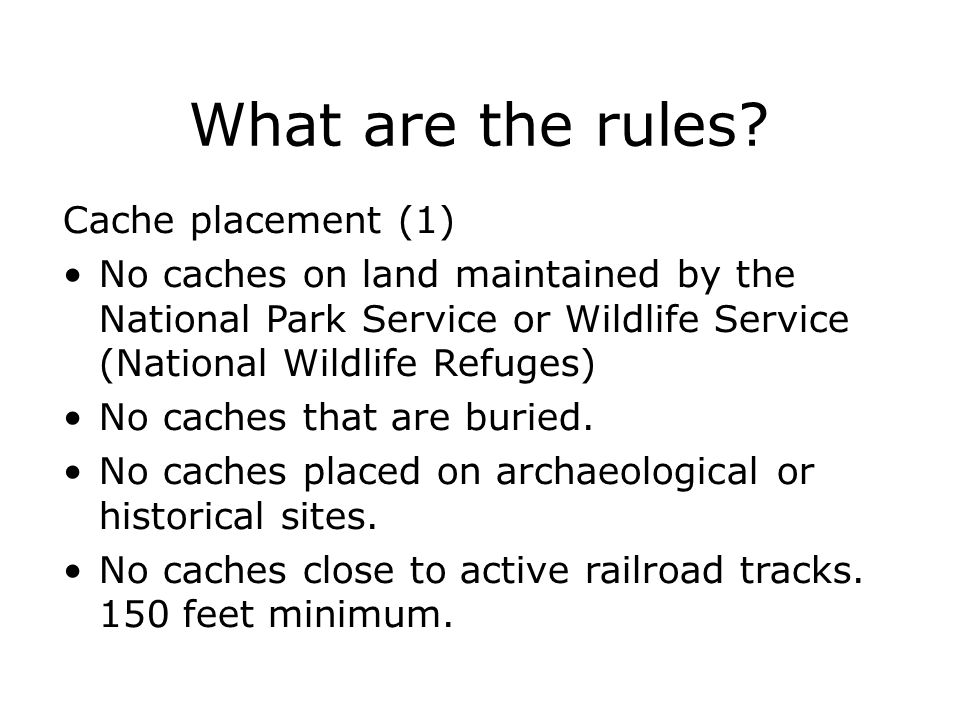 What are the rules Cache placement (1)