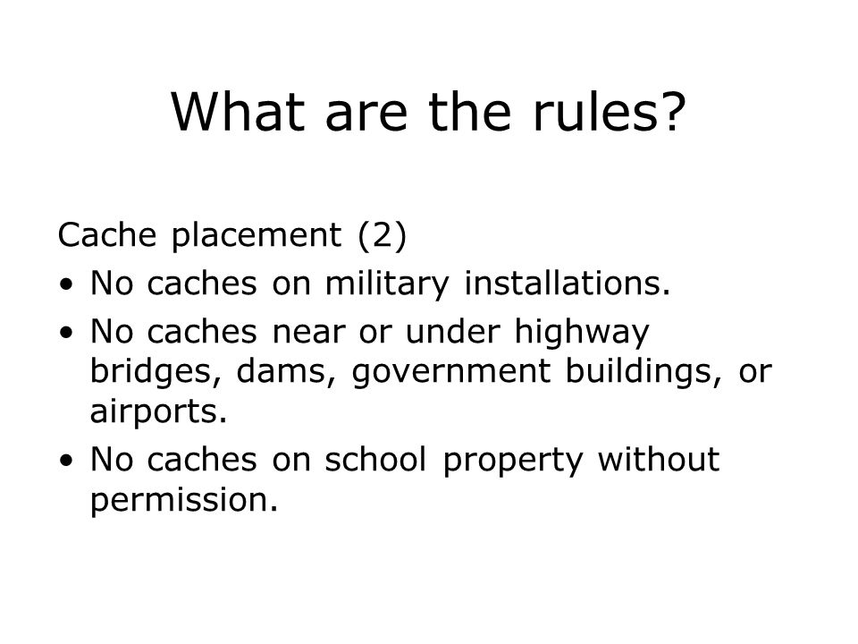 What are the rules Cache placement (2)