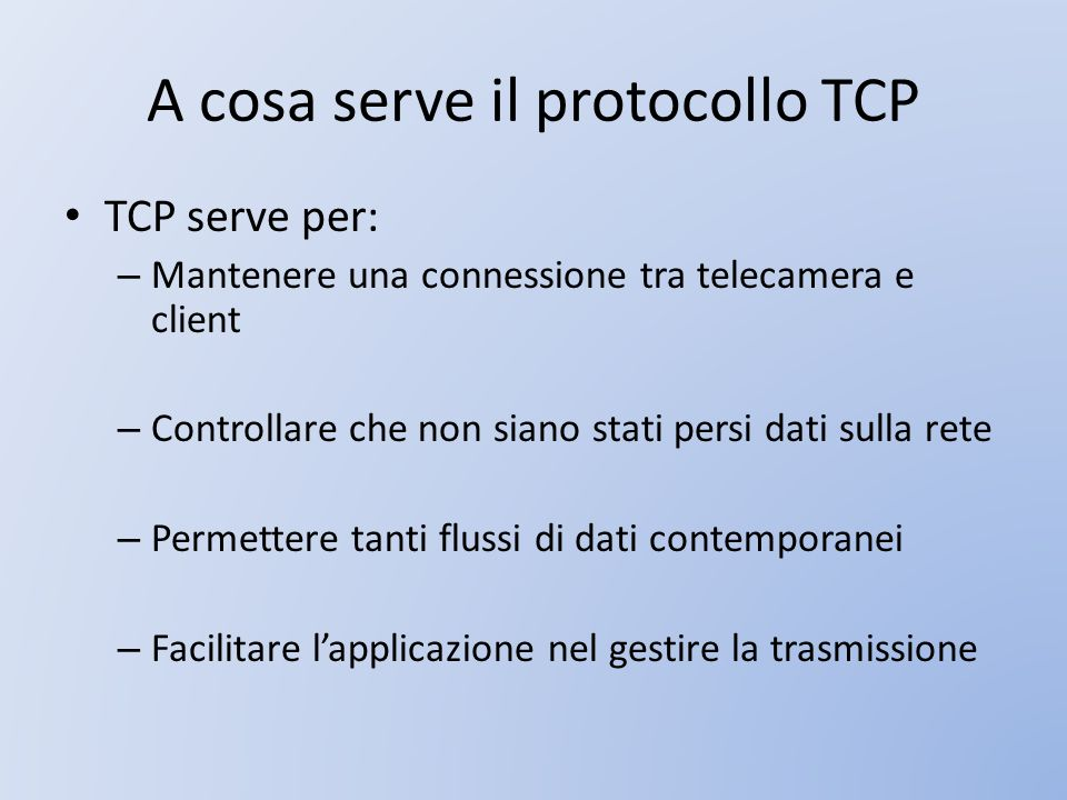 A cosa serve il protocollo TCP