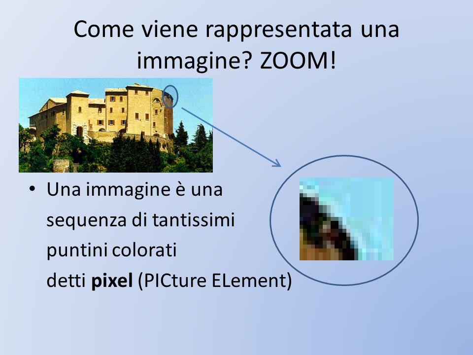 Come viene rappresentata una immagine ZOOM!