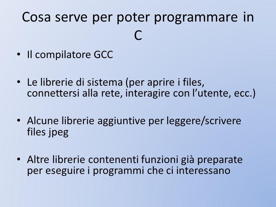 Cosa serve per poter programmare in C
