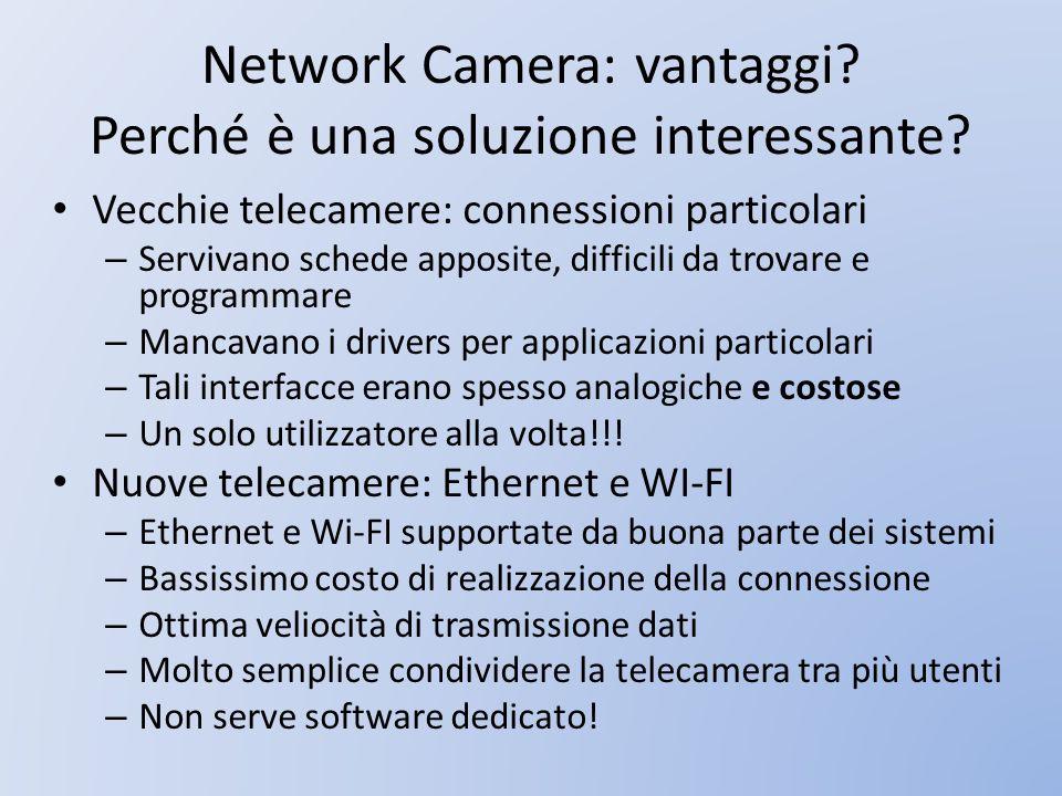 Network Camera: vantaggi Perché è una soluzione interessante