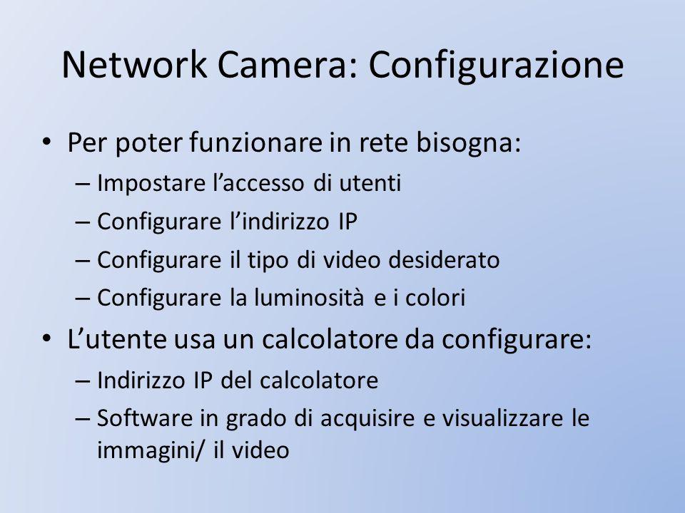 Network Camera: Configurazione