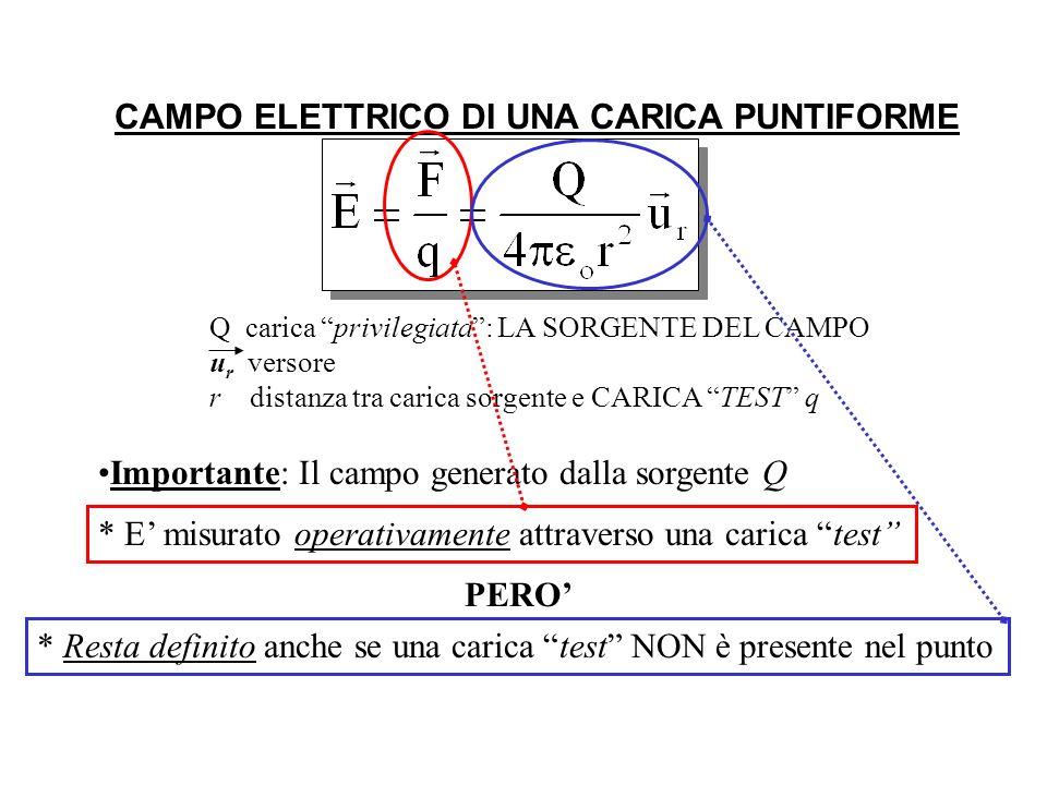 CAMPO ELETTRICO DI UNA CARICA PUNTIFORME