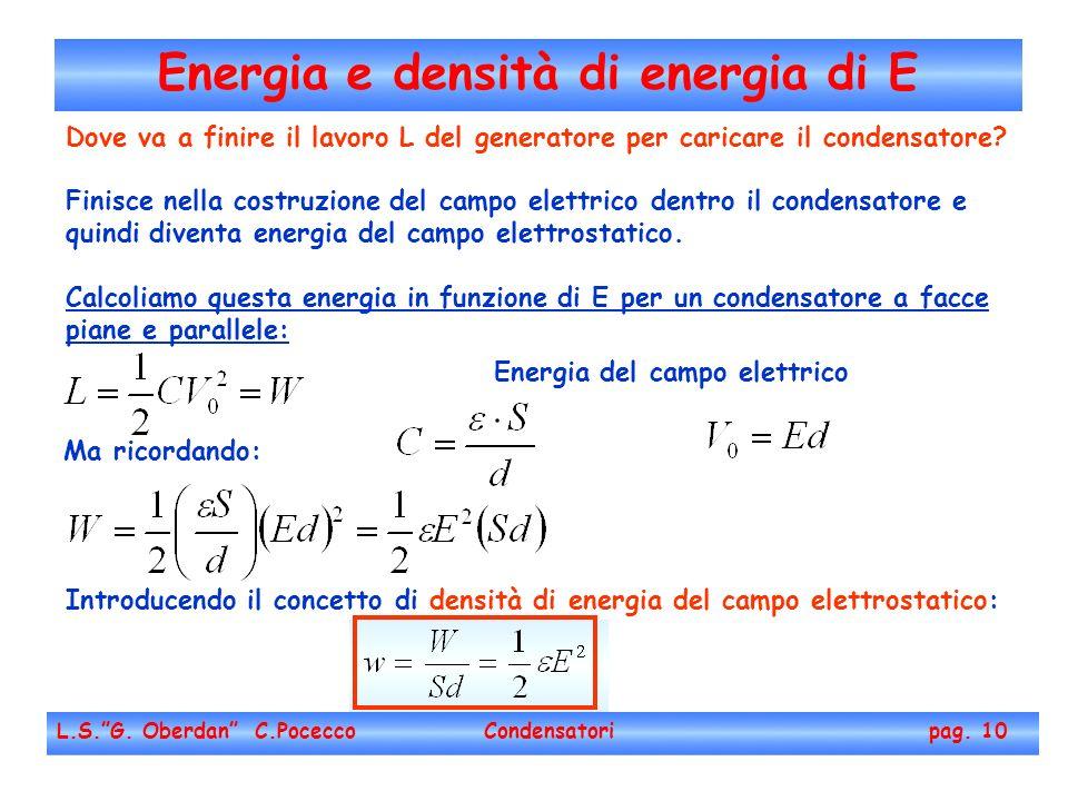 Energia e densità di energia di E