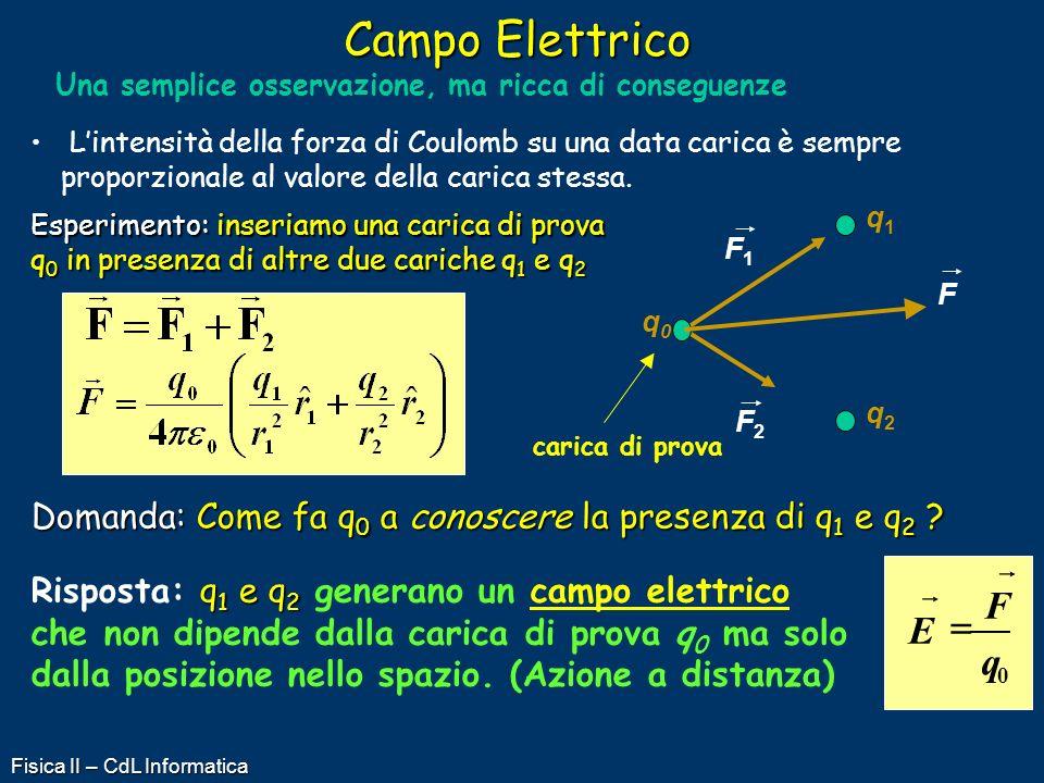 Campo Elettrico Una semplice osservazione, ma ricca di conseguenze.