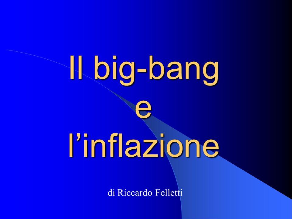 Il big-bang e l'inflazione