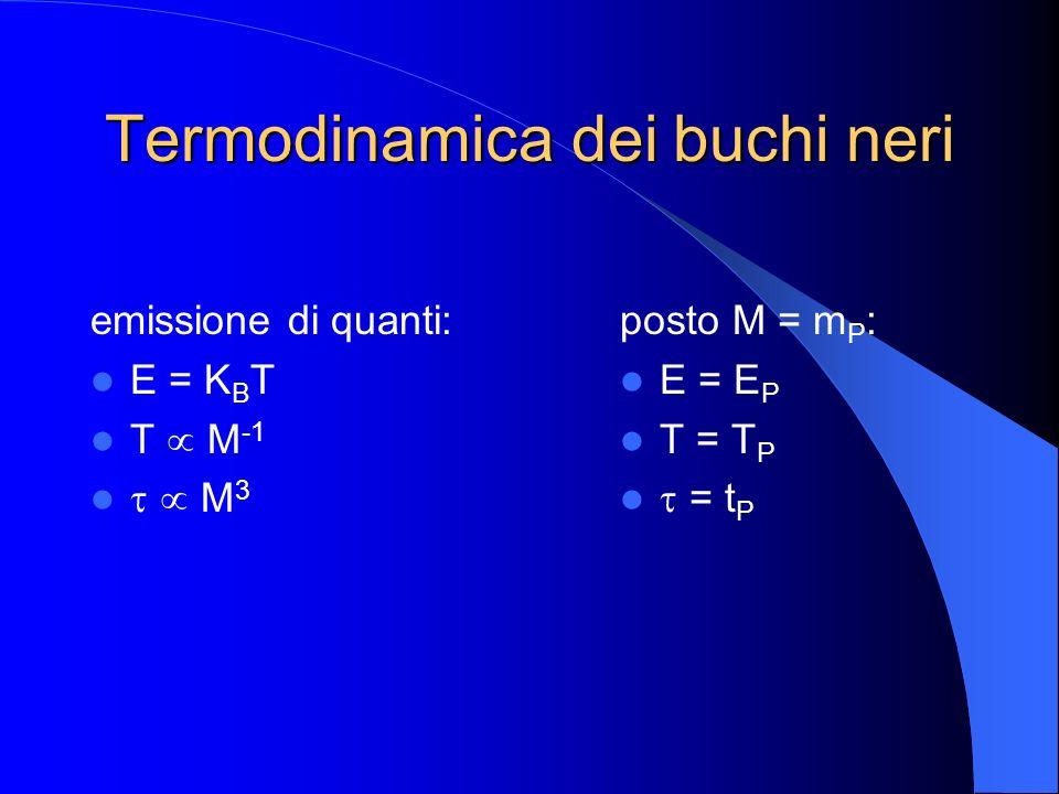 Termodinamica dei buchi neri