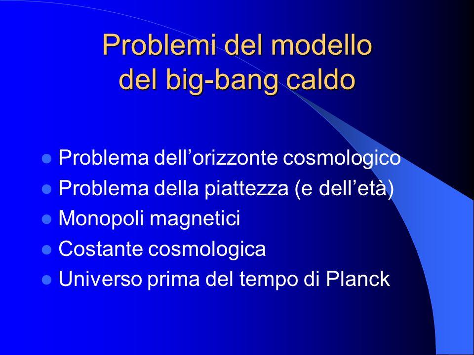 Problemi del modello del big-bang caldo