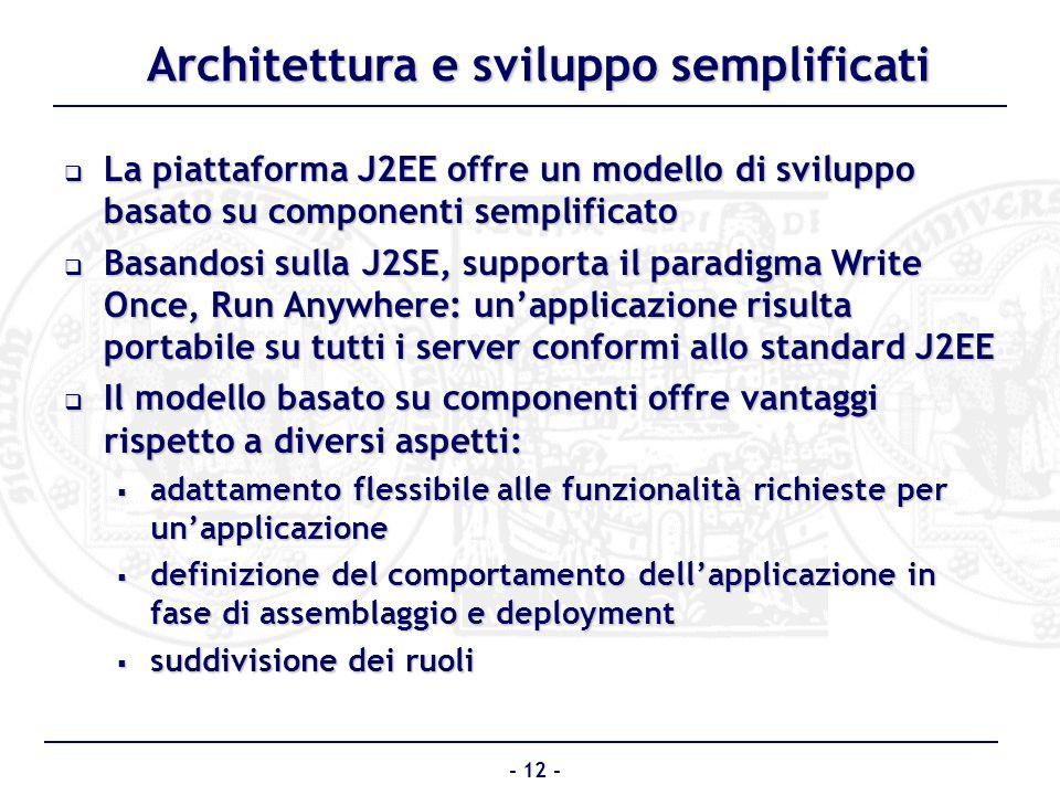 Architettura e sviluppo semplificati