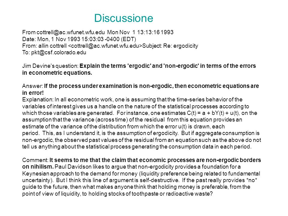 Discussione From cottrell@ac.wfunet.wfu.edu Mon Nov 1 13:13:16 1993