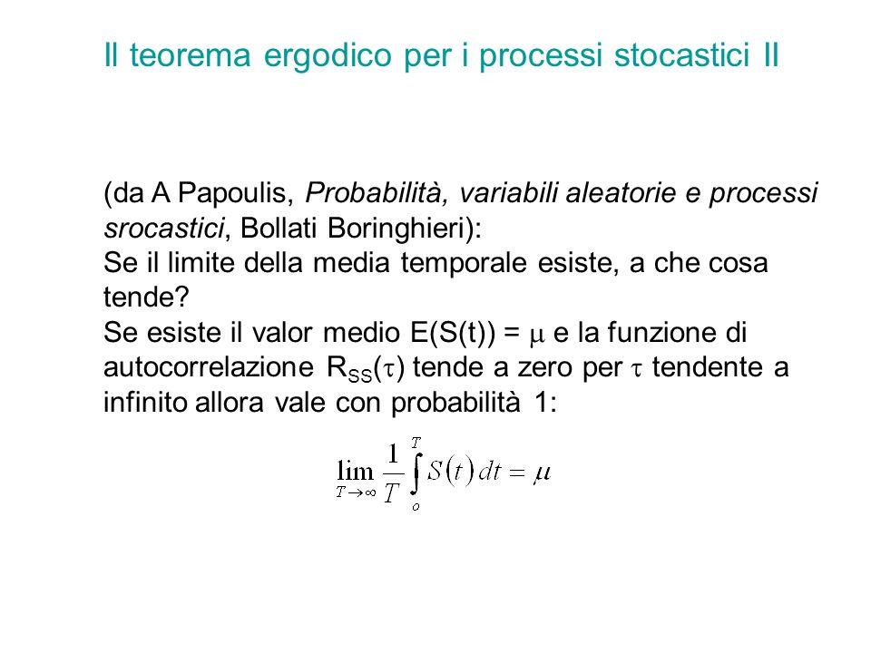 Il teorema ergodico per i processi stocastici II