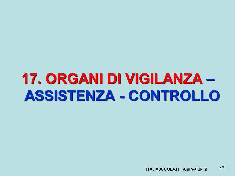 17. ORGANI DI VIGILANZA – ASSISTENZA - CONTROLLO