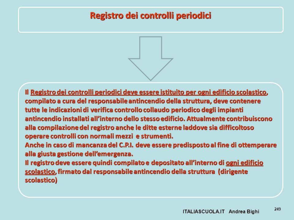 Registro dei controlli periodici