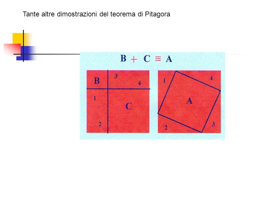 Tante altre dimostrazioni del teorema di Pitagora