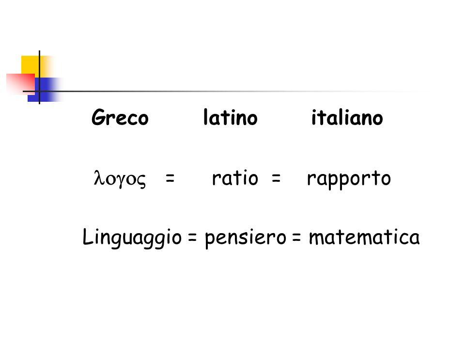 Greco latino italiano logo = ratio = rapporto.