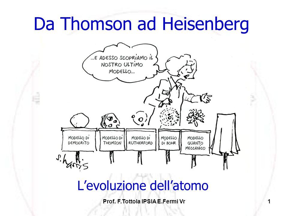 Da Thomson ad Heisenberg