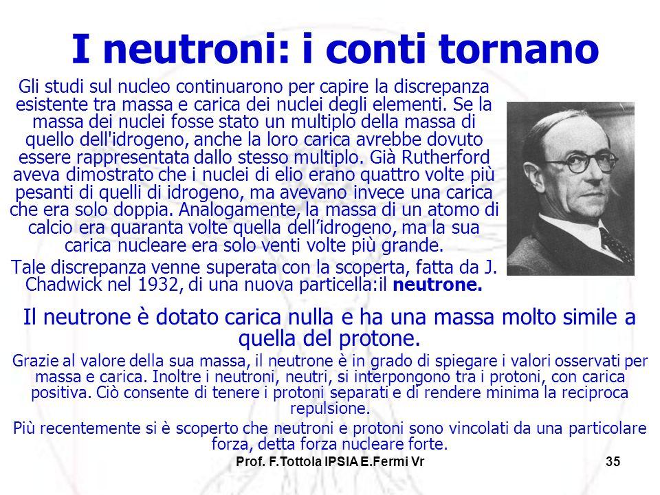 I neutroni: i conti tornano