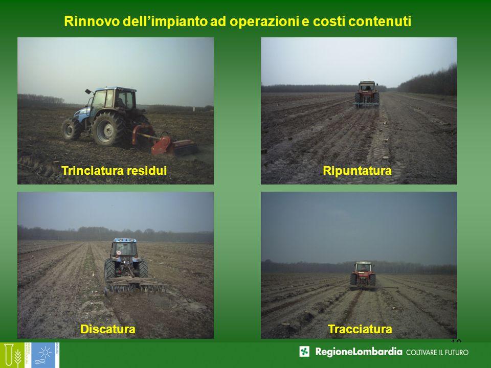 Rinnovo dell'impianto ad operazioni e costi contenuti