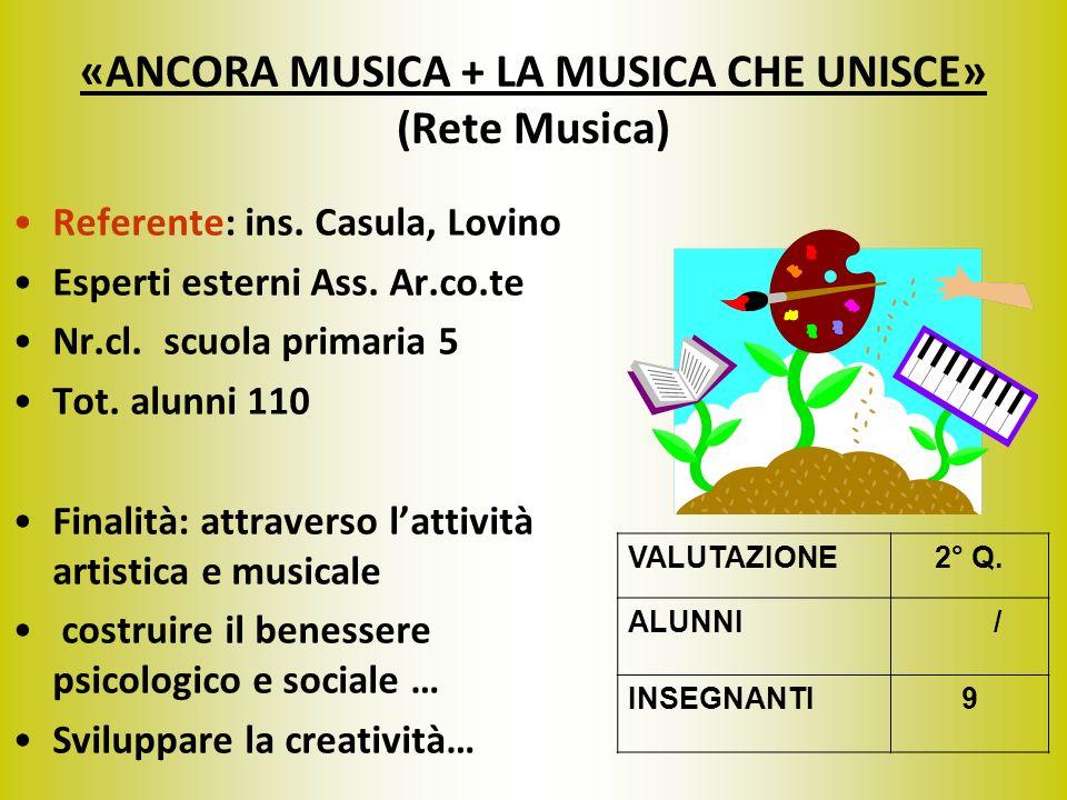 «ANCORA MUSICA + LA MUSICA CHE UNISCE» (Rete Musica)
