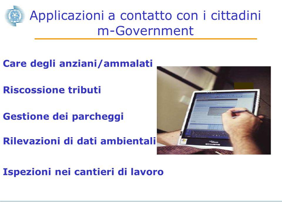 Applicazioni a contatto con i cittadini m-Government