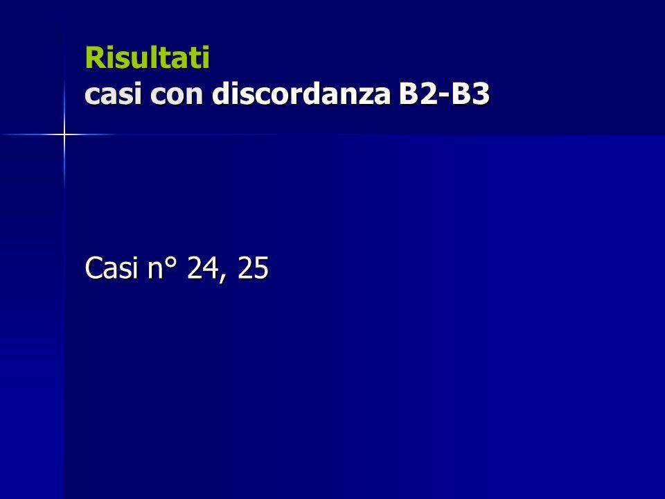 Risultati casi con discordanza B2-B3
