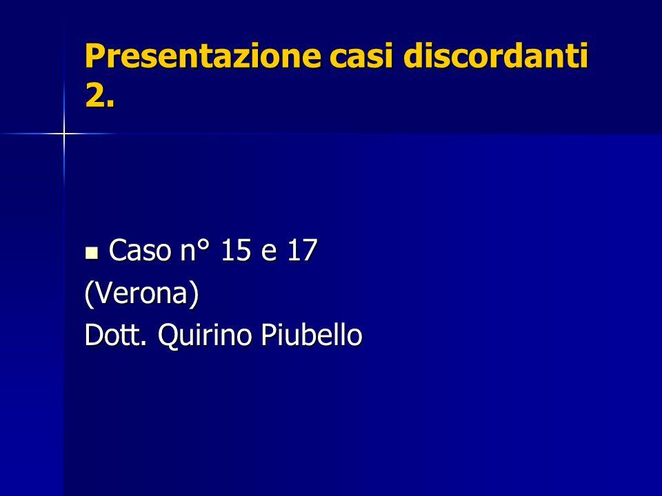 Presentazione casi discordanti 2.