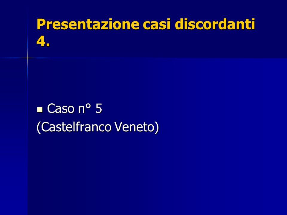 Presentazione casi discordanti 4.