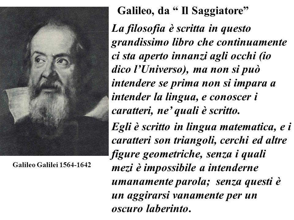 Galileo, da Il Saggiatore