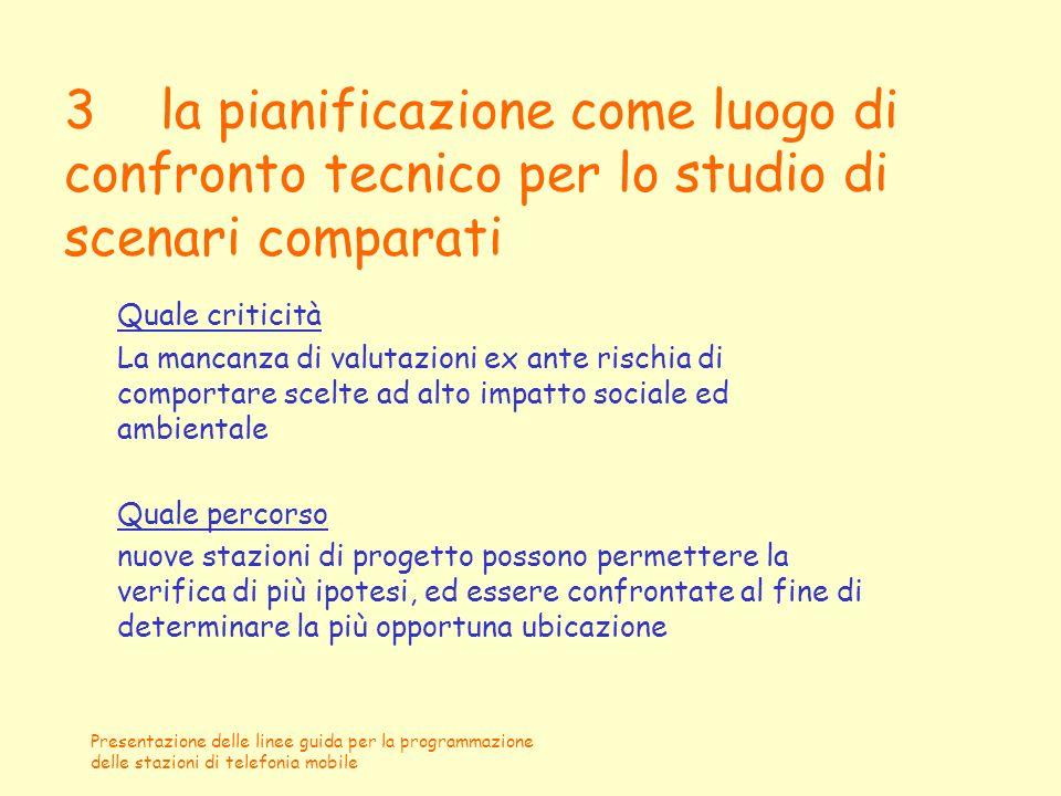 3 la pianificazione come luogo di confronto tecnico per lo studio di scenari comparati