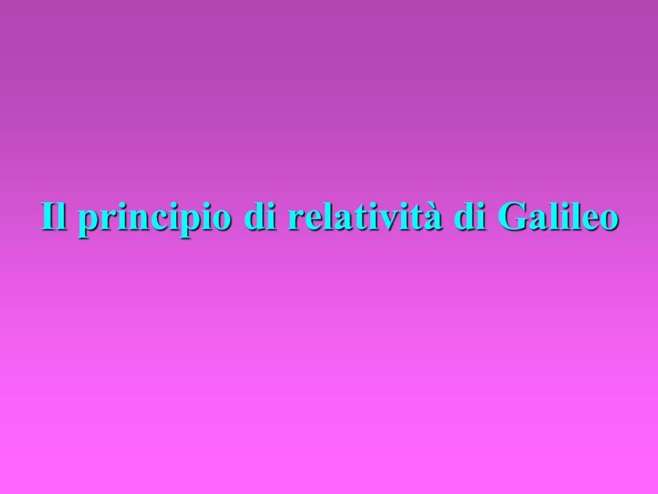Il principio di relatività di Galileo