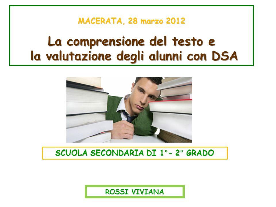 La comprensione del testo e la valutazione degli alunni con DSA