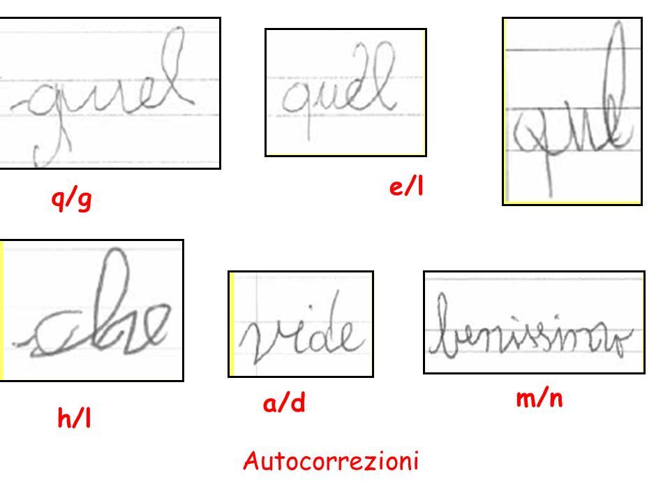 e/l q/g m/n a/d h/l Autocorrezioni 107