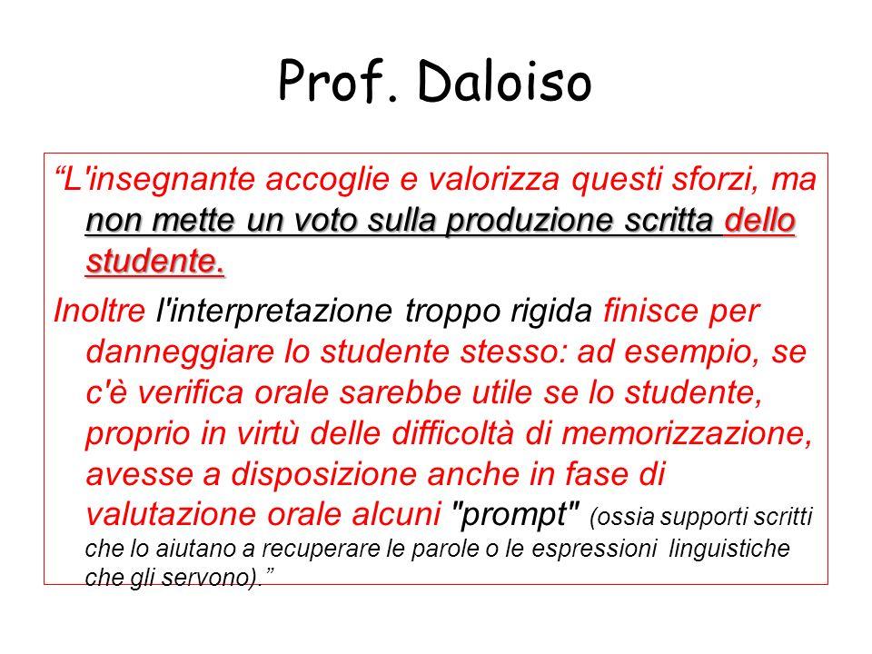 Prof. Daloiso
