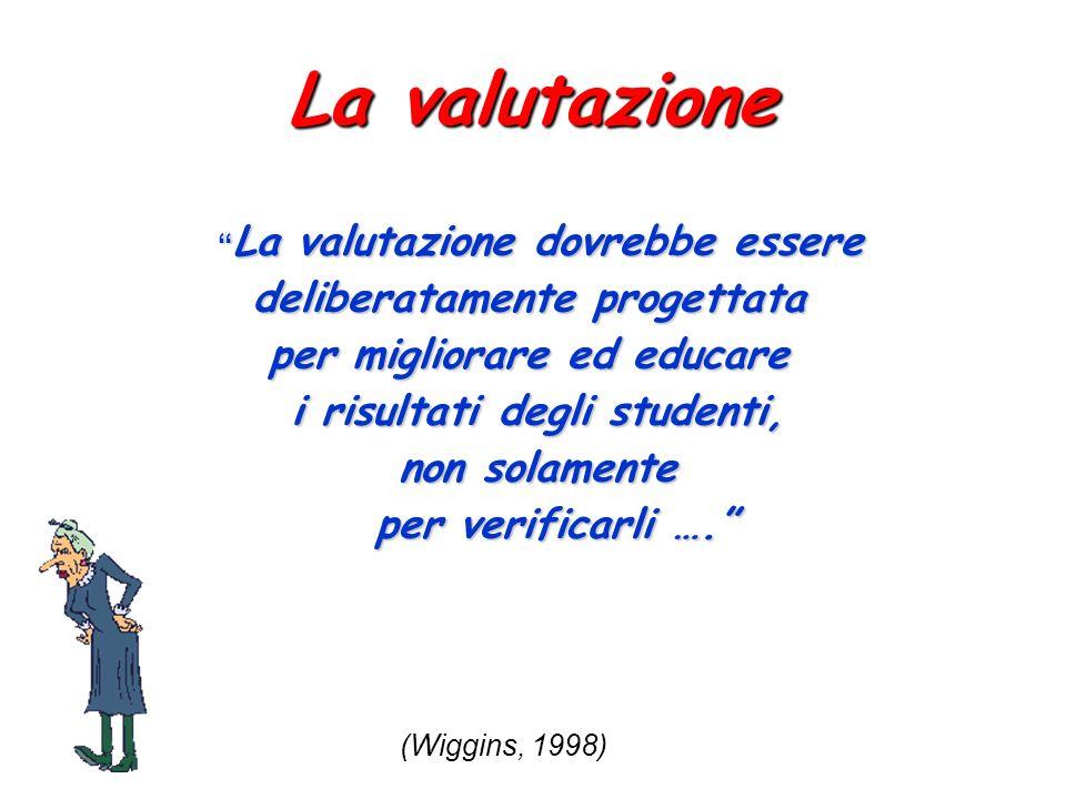 La valutazione deliberatamente progettata per migliorare ed educare