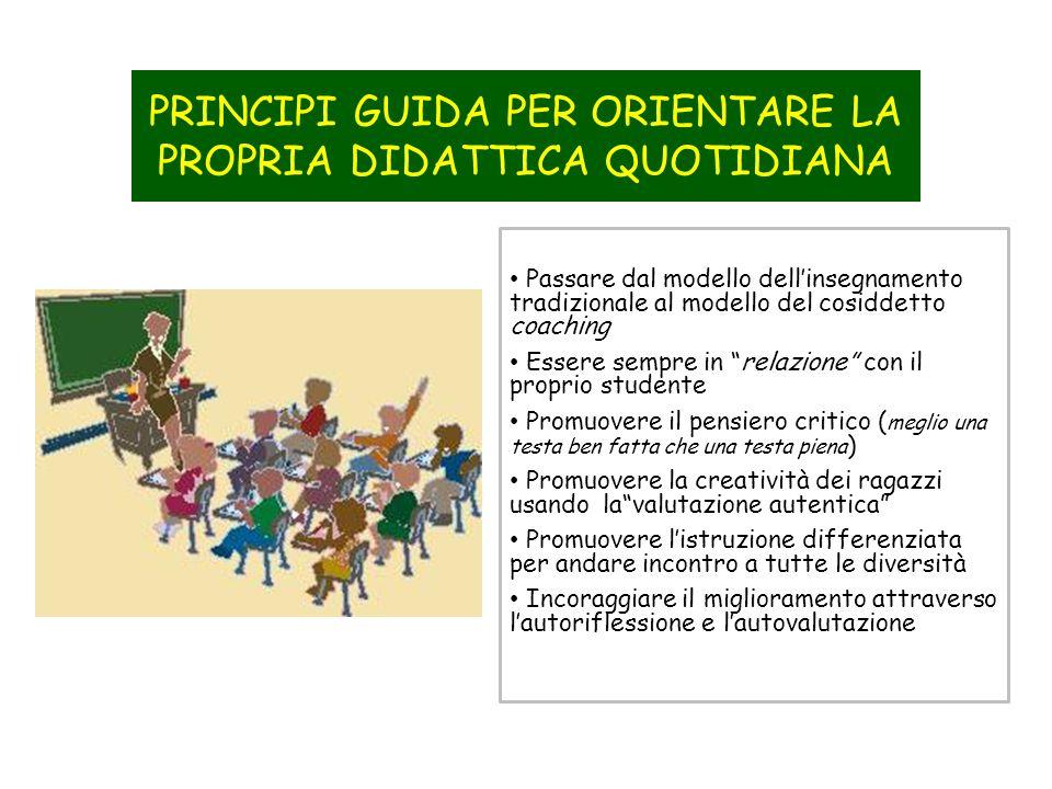 PRINCIPI GUIDA PER ORIENTARE LA PROPRIA DIDATTICA QUOTIDIANA