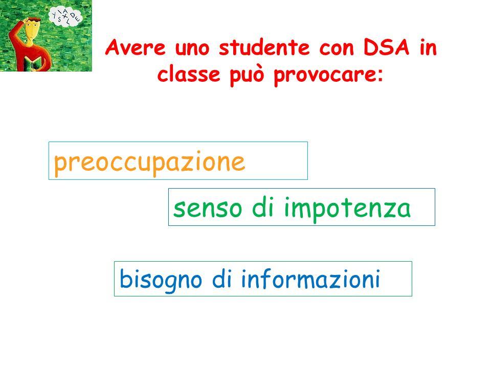 Avere uno studente con DSA in classe può provocare: