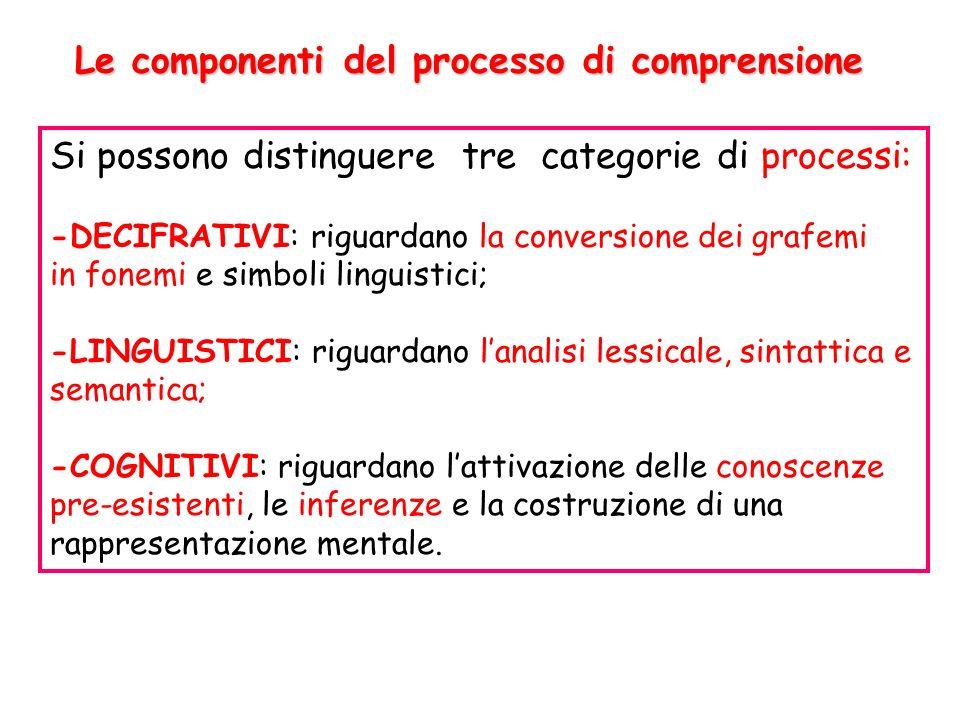 Le componenti del processo di comprensione