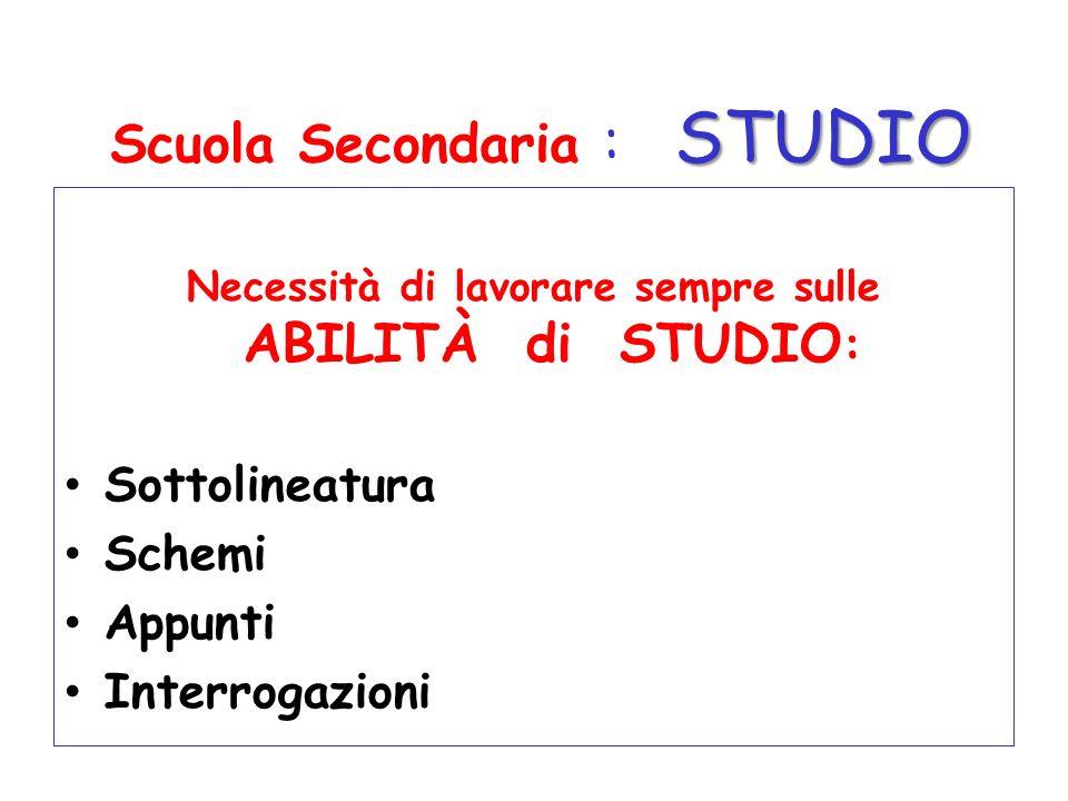 Scuola Secondaria : STUDIO