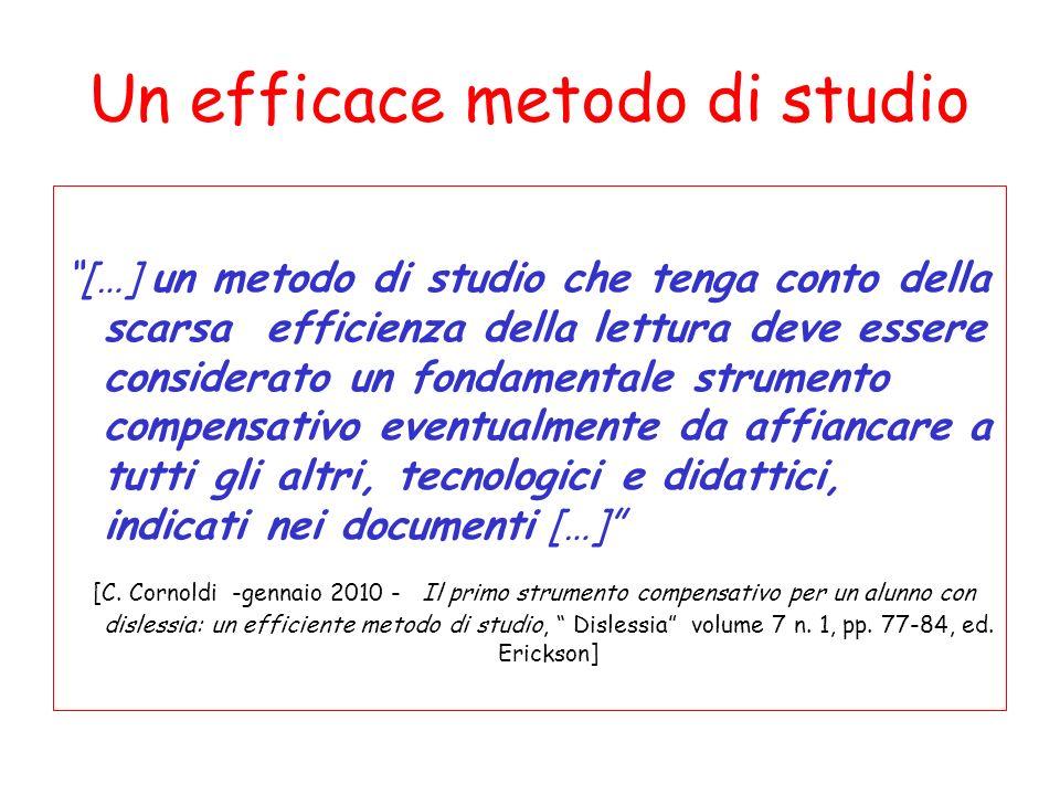 Un efficace metodo di studio