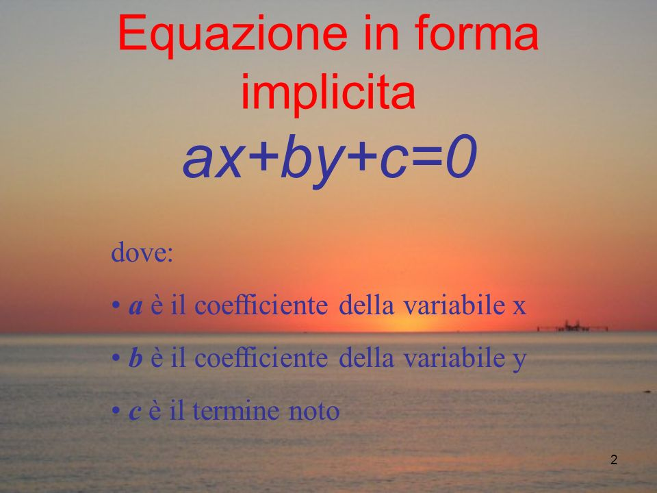 Equazione in forma implicita